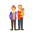 cheerful hugging family in full length vector image vector image