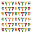 christmas bunting vector image vector image