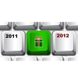christmas keyboard key vector image vector image