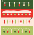 christmas lights colorful xmas garlands vector image vector image