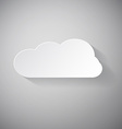 Cloud - Paper Cut vector image vector image