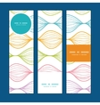 colorful horizontal ogee vertical banners vector image