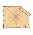 compass on brown paper vector image