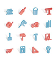 construction and building icons vector image vector image