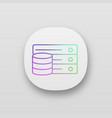 database app icon vector image
