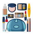 decorative cosmetics for lips eyes and nails vector image vector image