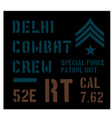 delhi military plate design vector image