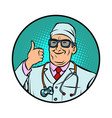 doctor thumb up gesture vector image vector image
