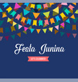 festa junina background vector image vector image