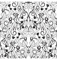 floral black and white seamless pattern white vector image vector image