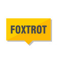 foxtrot price tag vector image vector image