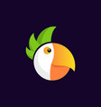 funny shape parrot head vector image