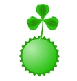 Green Clover and Circle Banner vector image vector image
