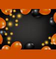 halloween background design balloon and light vector image