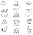 Hand draw thanksgiving doodle vector image vector image