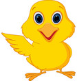 happy chick cartoon vector image vector image
