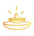 happy diwali india festival candle in diya lamp vector image vector image