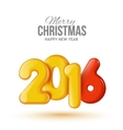 Happy New Year and Merry Christmas Volume vector image vector image