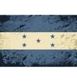 Honduras flag Grunge background vector image vector image