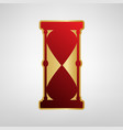 hourglass sign red icon on vector image