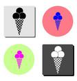 ice cream cone flat icon vector image