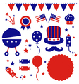 Independence day icons vector image vector image