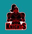 knights symbol metal armor warrior knight and vector image vector image