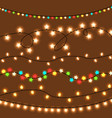 lightlight christmas festive decoration vector image vector image