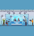 live news broadcasting production studio mass vector image