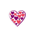 love heart joy logo vector image vector image