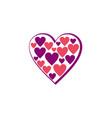 love heart joy logo vector image