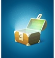 Magic fairy-tale wooden trunk vector image vector image