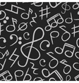 music note icons on black board seamless pattern vector image vector image