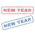 new year textile stamps vector image vector image