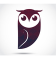 Owl abstract icon isolated on white vector image