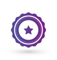 purple gradient smooth edged burst with star vector image vector image
