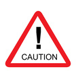 Road caution sign vector image