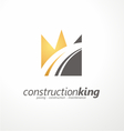 Road construction creative symbol layout vector image