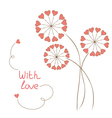 Romantic flowers vector image vector image