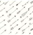 seamless pattern with hand drawn arrows on vector image vector image