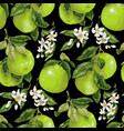 seamless pattern with pomelo fruits citrus fruits vector image vector image