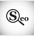 seo search engine optimization on white background vector image