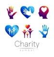 Set Symbol of CharitySign vector image vector image