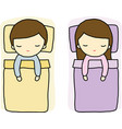 Sleeping Boy and Girl vector image