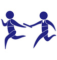 Sport logo for running relay vector image