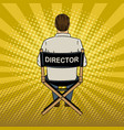 stage director on set pop art vector image