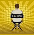 stage director on set pop art vector image vector image