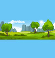 summer landscape with fields and trees and vector image vector image