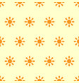 sun seamless pattern vector image vector image