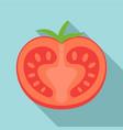 tasty half tomato icon flat style vector image vector image